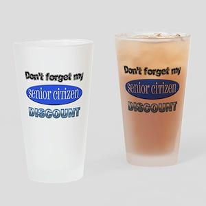 Senior Citizen Discount Pint Glass