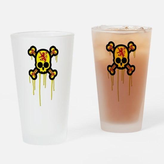 Scottish Punk Skull Pint Glass