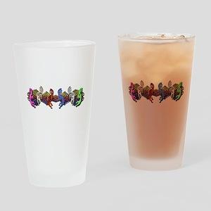 Colorful Kokopelli Banner Pint Glass