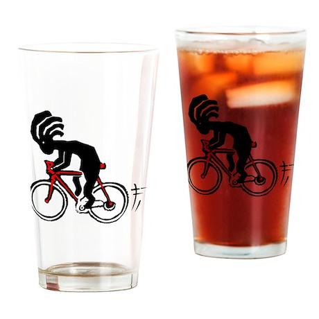 Kokopelli Bicycle Pint Glass