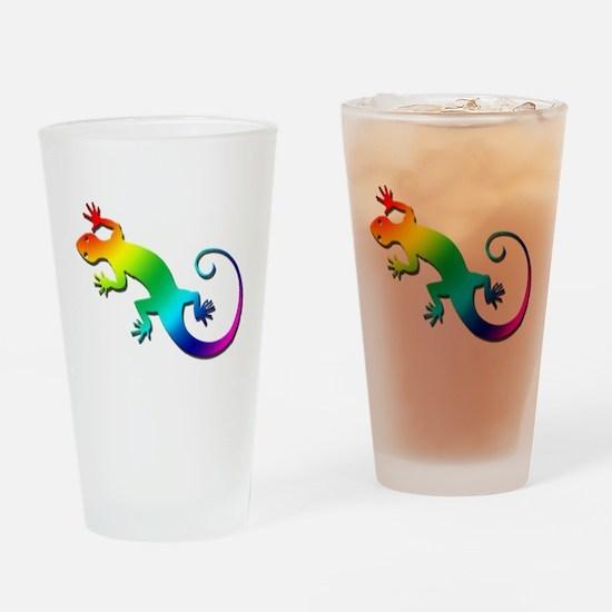 Rainbow Gecko Pint Glass