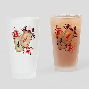 Gecko Gambler Drinking Glass