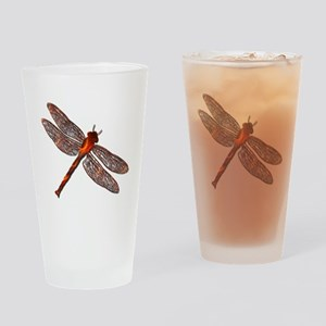 Fire Dragonfly Pint Glass