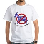 Anti-Democrat White T-Shirt