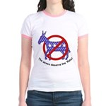 Anti-Democrat Jr. Ringer T-Shirt