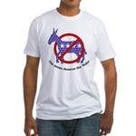 Anti-Democrat Fitted T-Shirt