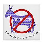 Anti-Democrat Tile Coaster