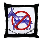 Anti-Democrat Throw Pillow