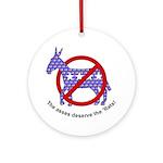 Anti-Democrat Ornament (Round)