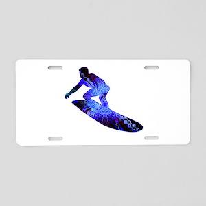Hang Ten Aluminum License Plate
