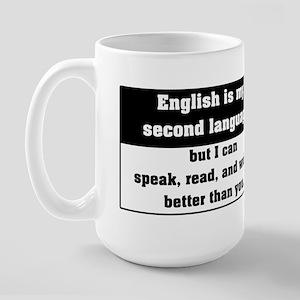 Second Language English Large Mug