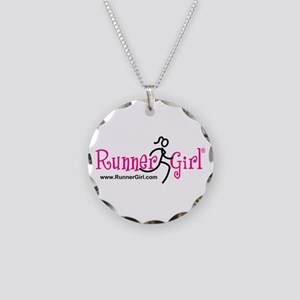 RunnerGirl Necklace Circle Charm
