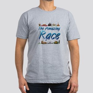 Amazing Race Men's Fitted T-Shirt (dark)