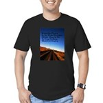 Buddist Proverb Men's Fitted T-Shirt (dark)