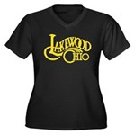 Lakewood Logo Women's Plus Size V-Neck Dark T-Shir