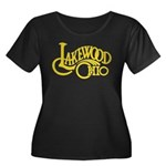 Lakewood Logo Women's Plus Size Scoop Neck Dark T-