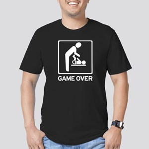 New Dad to be - Game over Dia Men's Fitted T-Shirt