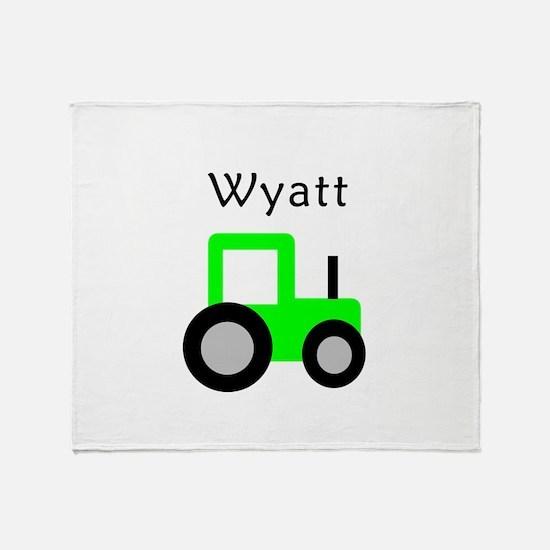 Wyatt - Lime Green Tractor Throw Blanket