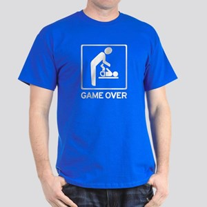 New Dad to be - Game over Dia Dark T-Shirt