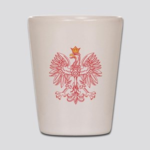 Polish Eagle Outlined In Red Shot Glass