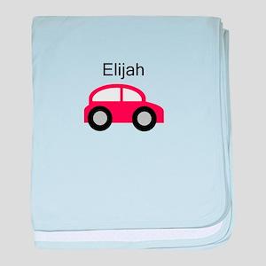 Elijah - Red Car baby blanket