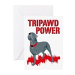 Tripawd Power Bellona Greeting Cards (Pk of 10)