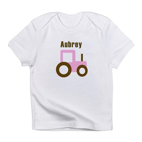 Aubrey - Pink Tractor Infant T-Shirt