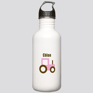 Chloe - Pink Tractor Stainless Water Bottle 1.0L