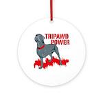 Tripawd Power Bellona Ornament (Round)