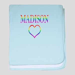 Madison - Rainbow Heart baby blanket
