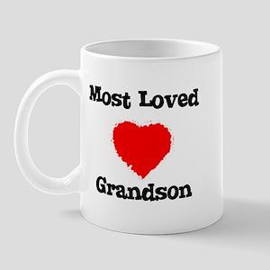 Most Loved Grandson Mug