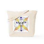 Cross Skull Tote Bag