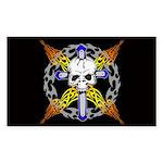 Cross Skull(black) Rectangle Sticker