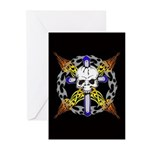 Cross Skull(black) Greeting Cards (Pk of 10)