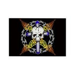 Cross Skull(black) Rectangle Magnet (10 pack)
