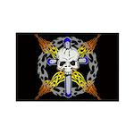 Cross Skull(black) Rectangle Magnet
