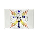 Cross Skull Rectangle Magnet (10 pack)