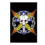 Cross Skull(black) Postcards (Package of 8)