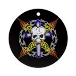 Cross Skull(black) Ornament (Round)