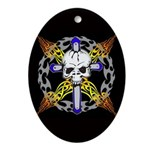 Cross Skull(black) Oval Ornament