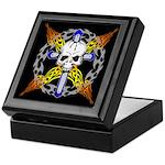 Cross Skull Keepsake Box