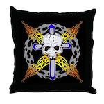 Cross Skull(black) Throw Pillow