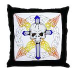 Cross Skull Throw Pillow