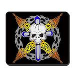 Cross Skull(black) Mousepad