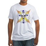 Cross Skull Fitted T-Shirt