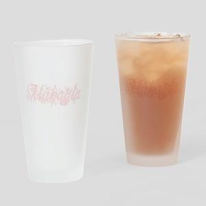 Makayla - Pink Flowers Pint Glass