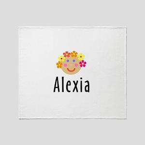 Alexia - Flower Girl Head Throw Blanket