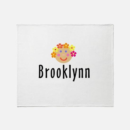 Brooklynn - Flowergirl Throw Blanket