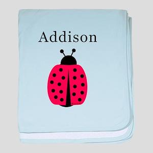 Addison - Ladybug baby blanket