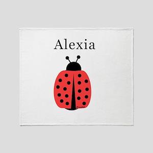 Alexia - Ladybug Throw Blanket